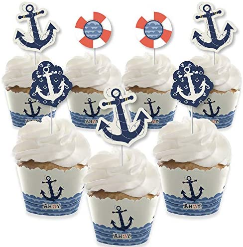 Ahoy Nautical Decoration Birthday Wrappers