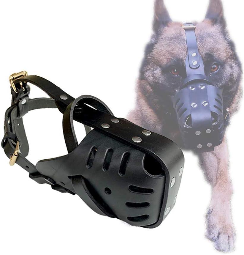 Zolux Polizei Maulkorb Leder verstellbar geeignet f/ür Sch/äferhunde schwarz T6