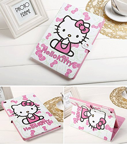 1 case, LiViTech(TM) Hello Kitty Design Folio Style PU Leather Hard Case for Apple iPad Mini 1 2 3, Model no. is A1432 A1454 A1455 A1489 A1490 A1491 A1599 A1600 A1601Pink ()