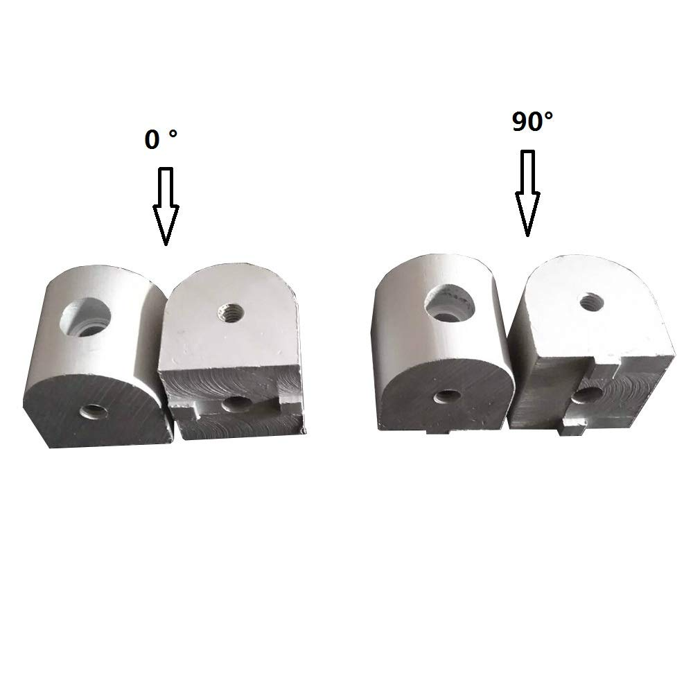 Gimax Right Angle Living Nub 0 and 90 Degree 4040 Connector Corner Angle Bracket Connection Joint for Aluminum Profile - (Color: 4040-90 5pcs)