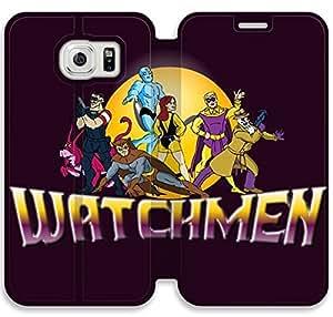 Watchmen H7G25P1 Samsung Galaxy S6 caso funda de cuero del tirón I4T50B4 Móviles Cubiertas
