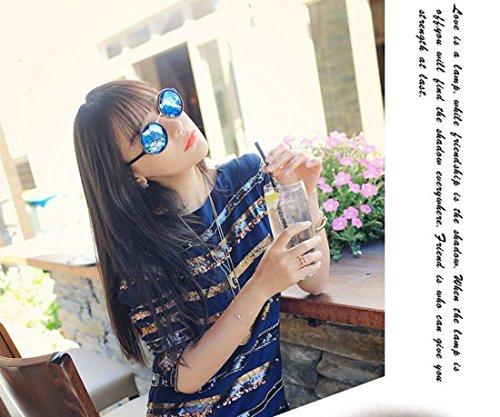 Westeng soleil de Femme Lunette Bleu wqfg8X