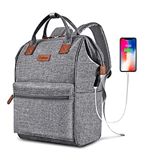 BRINCH Laptop Backpack 15.6 Inch Wide Open Computer Backpack Laptop Bag College Rucksack Water Resistant Business Travel…