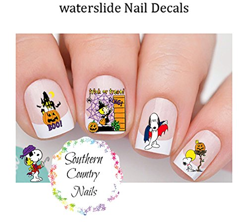 Halloween Peanuts Halloween Snoopy Design 126 Nail Art (Easy Nail Art Designs For Halloween)