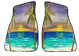 Tropical Sunset Beach Auto Car Floor Mats