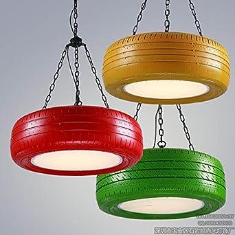 JJ Moderne LED Pendelleuchten Lampe Im Nordischen Stil Amerikanischer Farbe  Reifen Kronleuchter Restaurant Cafe Lounge Halle