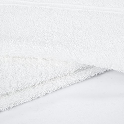 """HaoDuoYi 100% Cotton 16 Piece Washcloths 600GSM, Luxury, Soft,Spa and Hotel 13""""X13"""" White by HaoDuoYi (Image #1)"""