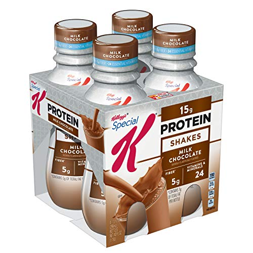 Kellogg's Special K Protein Shakes, Milk Chocolate, Gluten Free, 10 fl oz Bottles, 4 Count (Pack of 3)