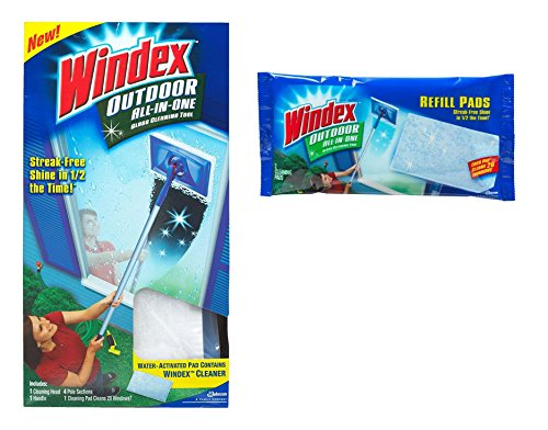 Windex All-in-One Variety Pack, 1 All-in-One Starter Kit, 1 All-in-One Refill, 1 CT (Kit Cleaning Outdoor)