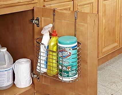 Amazon Com Kitchen Details Kitchen Cabinet Door Hanging Organizer