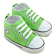 Baby Shoes,Dealzip Inc Baby Toddler Infant Boy Girls Soft Sole Canvas Sneaker for Prewalker Baby Gift(6-9 months,Green)