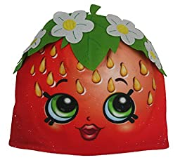 Shopkins Girls Strawberry Kiss Glittered Red Hat [4013]