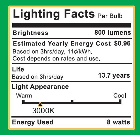 Sunco Lighting 10 Pack A15 LED Bulb, 8W=60W, 3000K Warm White, Dimmable, 800 LM, E26 Base, Refrigerator & Fan Light - UL, Energy Star by Sunco Lighting (Image #3)