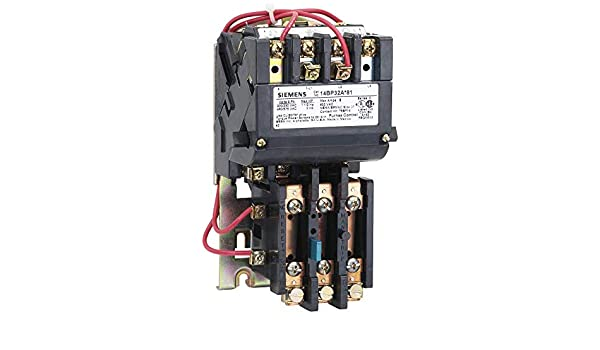 220-240//440-480 at 60Hz Coil Voltage Manual//Auto Reset 3 Pole Siemens 14DP32AC81 Heavy Duty Motor Starter Open Type 27A Contactor Amp Rating Standard Auxiliary Contacts 1 NEMA Size Ambient Compensated Bimetal Overload 3 Phase
