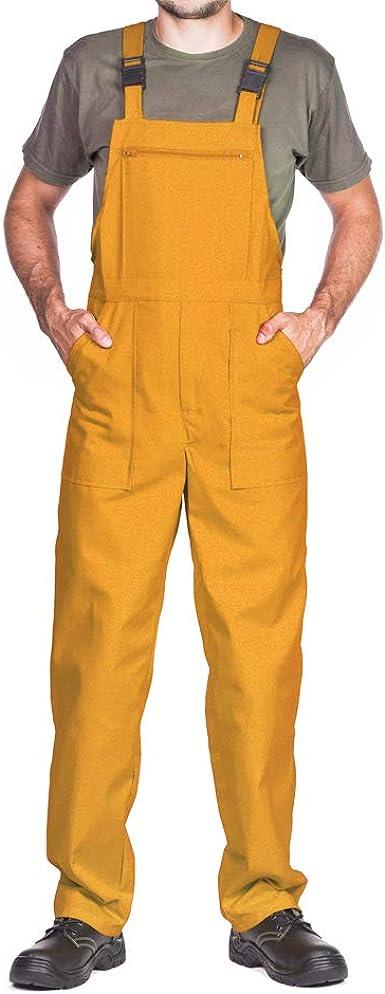 Pantalones Con Peto De Trabajo Para Hombre Made In Eu Mono De Trabajo Azur Blanco Rojo Verde Negro Amazon Es Ropa Y Accesorios