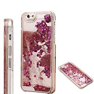 QHY Fashion Transparent Glitter Sand Bling Quicksand Star Pattern Case Cover for iPhone 6(Assorted Colors) , Dark Green