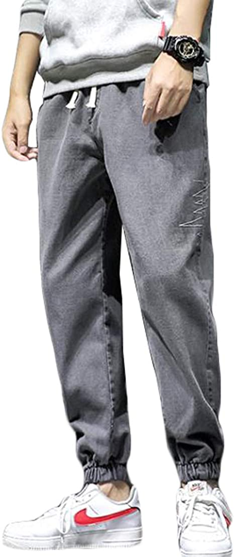 QYYジーンズ メンズ ゆったり ジョガーパンツ デニム 大きいサイズ デニムパンツ オシャレ ゴムウエスト テーパードパンツ ファッション ジーパン ロング ストリート Gパン