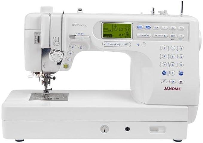 Janome 6600P - Máquina de coser: Amazon.es: Hogar