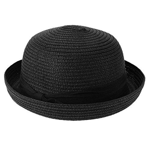 Diamondo Summer Sun Hats Women Straw Knitting Travel Outdoor Fold Packable Beach Hat (E)
