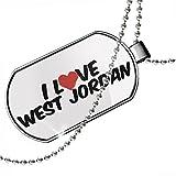 Dogtag I Love West Jordan Dog tags necklace - Neonblond