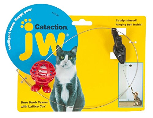 JW Cataction Doorknob Teaser with Cuz Toy, Multicolor