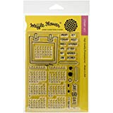 Waffle Flower Crafts 271020 Clear Calendar Stamps, 4 x 6""