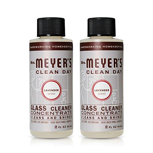 Mrs. Meyer's Glass Cleaner Concentrate Lavender, 2 OZ, ( 2- Pack (Lavender Glass)