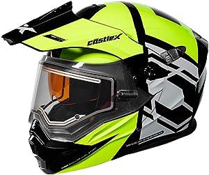 Castle X EXO-CX950 Hex Modular Electric Snowmobile Helmet in Hi-vis/Black Size 3XL