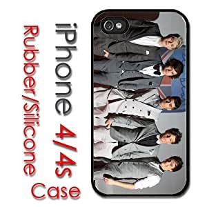 iPhone 4 4S Rubber Silicone Case - One Direction 1D Louis Harry zayne Liam