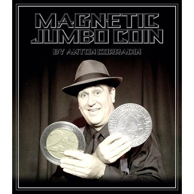Magnetic Jumbo Coin With DVD (2 EURO) by Anton Corradin by Anton Corradin Productions