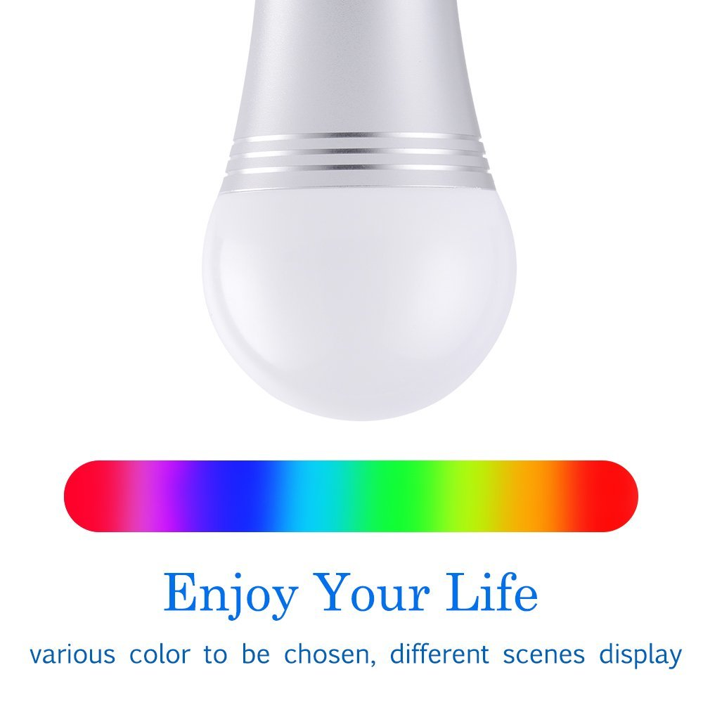 Smart Led Light Bulb, WiFi Smart Bulbs 6000K Dimmable Colored Smartphone Controlled Daylight White Night Light, No Hub Required, Works with Amazon Echo Alexa Google Home E27 A19 by Ausein (Image #2)