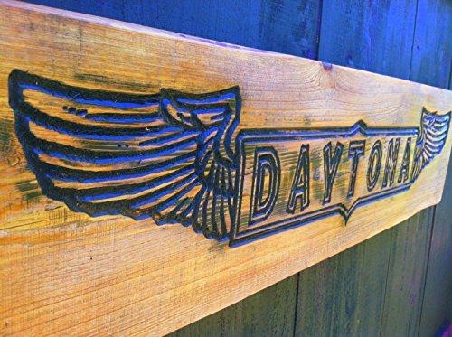 Large DAYTONA Sign - Florida, Motorcycle Rally, Bike Week, 500, Nascar, Biker Garage Gift (Sign Rally)