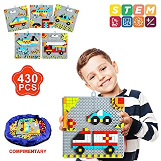INSOON 6 in 1 STEM Toys Puzzle Toys for Kids 4 5 6 7 8 Year Old Boys and Girls Pattern Blocks Set Building Toys for Kids Age 4-8