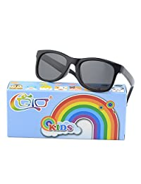 CGID Rubber Flexible Kids Polarized Sunglasses Glasses for Children Age 3-10,K25