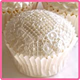 """Duchess 4"""" x 4"""" - Silicone Lace Design Mat for Cake Decorating, Cupcakes, Sugarcraft and Candies"""