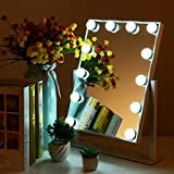 MRah Hollywood Makeup Vanity Mirror - White Lighted