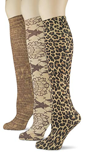 Knee High Trouser Socks w/Colorful Printed Patterns - Made in USA by Sox Trot (3 Charisma)
