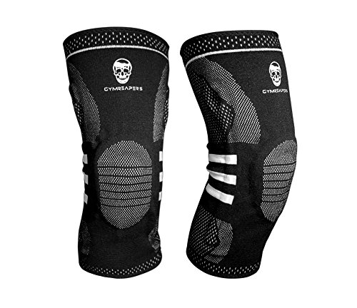 Knee Compression Sleeve Support Brace for Pain Relief and Joint Support - Best Sleeve For Jogging, Running, Basketball, Sports, Arthritis, and Meniscus Injury - Includes Support Stabilizer and Gel