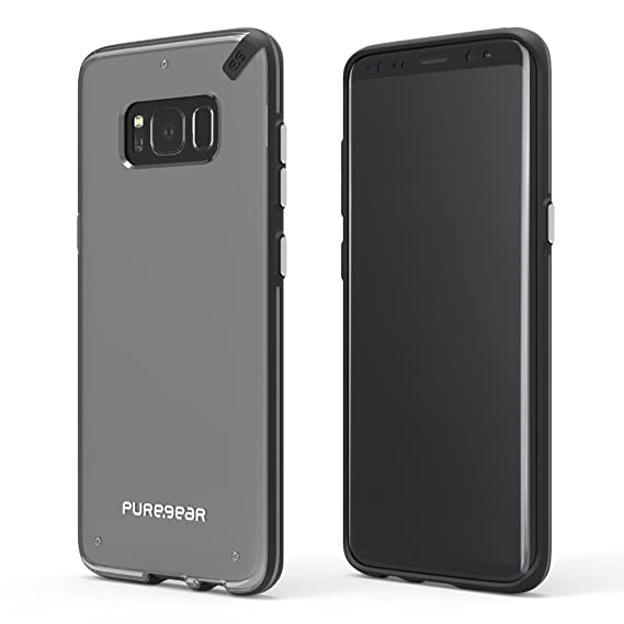 wholesale dealer f8518 f0d05 PureGear Slim Shell for Samsung S8 - Clear/Black