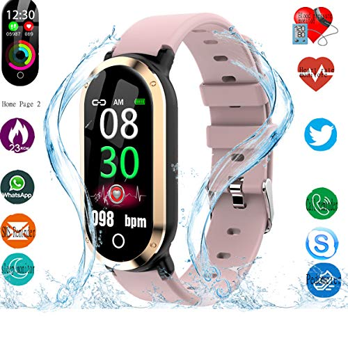 Smart Watch, Fitness Tracker with Heart Rate & Blood Pressure & Sleep  monitor for Android & IOS, Waterproof Activity Tracker Watch with Calorie