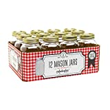 1 Quart Canning Clear Glass Pint Mason Jars With Lids 12 Pack