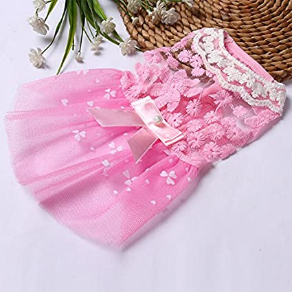 Buy Ocamo Tutu Skirt Soft Puppy Clothes For Small Dog Cat Baby Pink