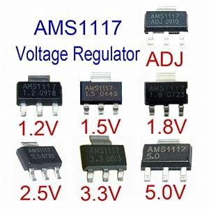 AMS1117-ADJ AMS1117-1.5 AMS1117-2.5 AMS1117-3.3 AMS1117-5.0 LD1117-3.3 SOT-223