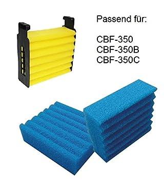 Ersatzschwämme für CBF-350 B Teichfilter Kammerfilter Filter Ersatzschwamm Set