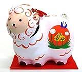 Japanese-made luckµ•ŸNot sheep papier-mache swing sheep ( small )