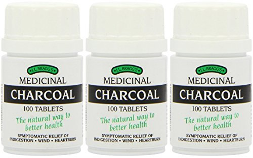 (3 PACK) - Braggs Medicinal Charcoal Tablets | 100s | 3 PACK - SUPER SAVER - SAVE MONEY by Braggs Medicinal