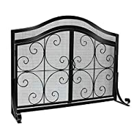 WBHome Fireplace Screen with Doors Large...