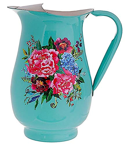 - RAZ Utensil Pitcher Flower Utensil Holder Stainless Steel Decorative Colorful Floral Design By Paul Brent 9