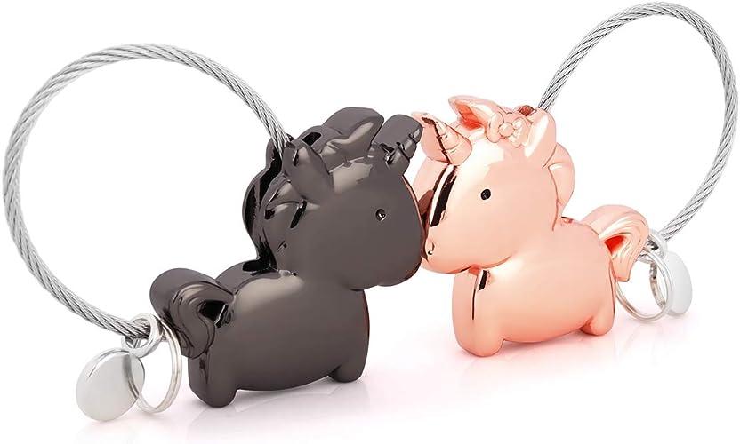 ejemplo de llaveros para parejas de unicornios