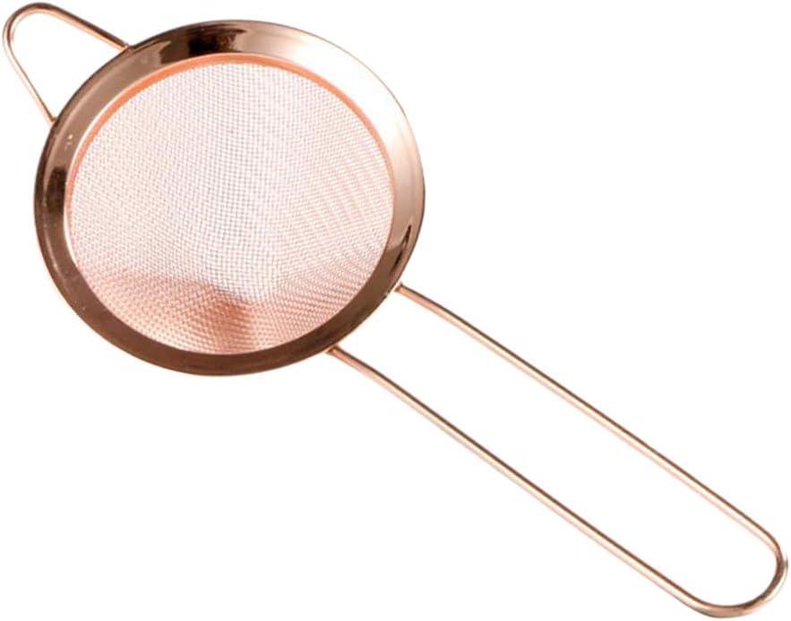 B Blesiya Stainless Steel Cocktail Strainer Fine Mesh Strainer 85 Mm 85mm Golden